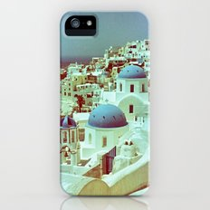 Santorini in Raspberry and Blue: shot using Revolog 600nm special effects film Slim Case iPhone (5, 5s)