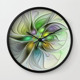Colors Make My Day, Abstract Fractal Art Wall Clock