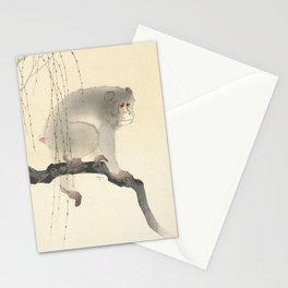 Monkey on tree branch, Ohara Koson Stationery Cards