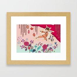 Pop Kung-Fu Framed Art Print