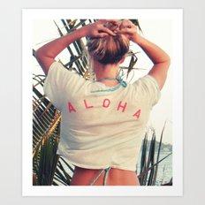 The Aloha Shirt Art Print