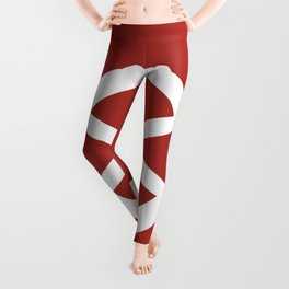 Ship Wheel (White & Maroon) Leggings