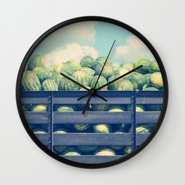 watermelons and sky Wall Clock