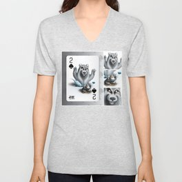 Two of Spades / No selfies! Unisex V-Neck