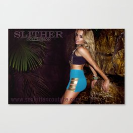 Slither in Gold Canvas Print