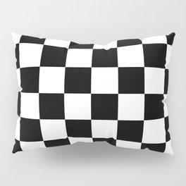 Black & White Checkered Pattern Pillow Sham