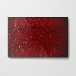Dark claret puckered leather abstract Metal Print