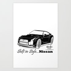 Shift in style- Nissan  Art Print