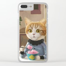Yummy ice cream and a Cat Clear iPhone Case