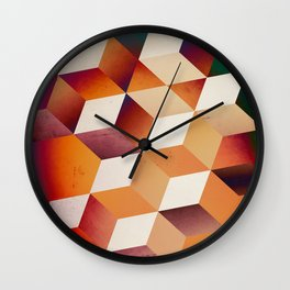 Oil Slick Cubes Wall Clock