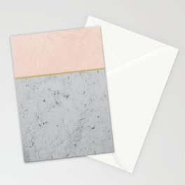 Soft Peach Meets Light Gray Concrete #1 #decor #art #society6 Stationery Cards
