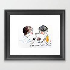 I support same-sex marriage Framed Art Print