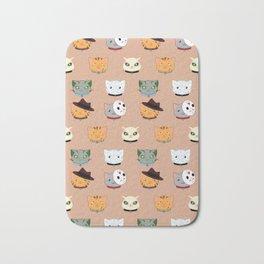 Slasher Kitties (Horror-movie inspired cats) - Pattern V. Bath Mat