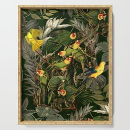 Floral and Birds XXXVI Serving Tray