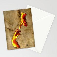 Michelangelo hands. Pixelation Stationery Cards
