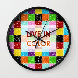 Live in Color by Studio M & Co Wall Clock
