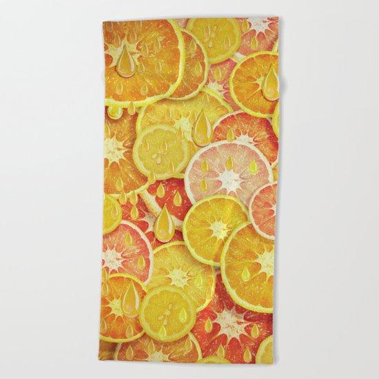 Juicy Fruits Beach Towel