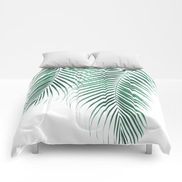 Summer Palm Leaves #2 #tropical #decor #art #society6 Comforters