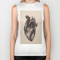 anatomical heart Biker Tanks featuring Anatomical Heart by Redmonks