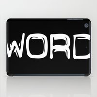 word iPad Cases featuring WORD by unamerican
