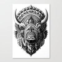 bioworkz Canvas Prints featuring Bison by BIOWORKZ