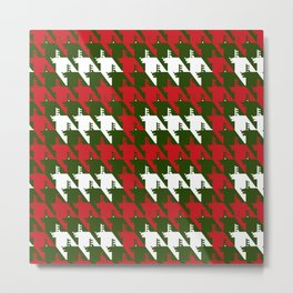 Where is the reindeer of Santa?_L  R&Forestgreen Metal Print