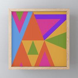 Triangle Rainbow Framed Mini Art Print
