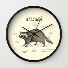 Anatomy of a Raccoon Wall Clock