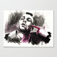 taxi driver Canvas Prints featuring Taxi Driver by Juan Pablo Cortes