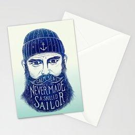 CALM SEAS NEVER MADE A SKILLED (Blue) Stationery Cards