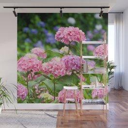 Pink & Lavender Flower Clusters Wall Mural