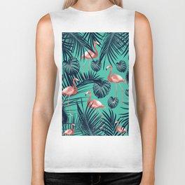 Tropical Flamingo Pattern #7 #tropical #decor #art #society6 Biker Tank
