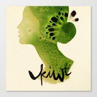 kiwi Canvas Prints featuring Kiwi by Ekaterina Koroleva