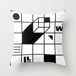 Four Walled World Throw Pillow