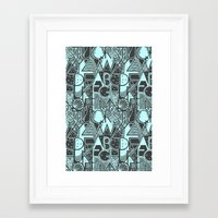 alphabet Framed Art Prints featuring Alphabet by Clare Corfield Carr