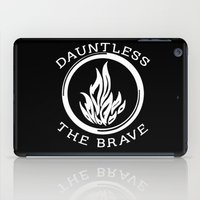 divergent iPad Cases featuring Divergent -  Dauntless The Brave by Lunil