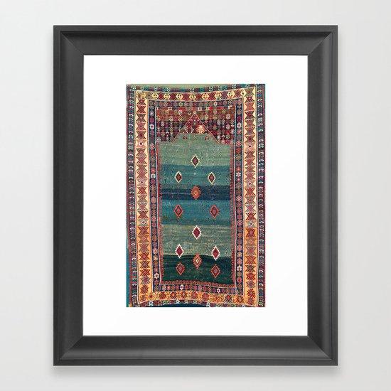 Sivas Antique Turkish Niche Kilim Print by vickybragomitchell