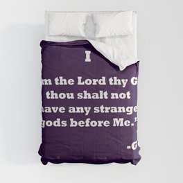 Ten Commandments...ONE Comforters