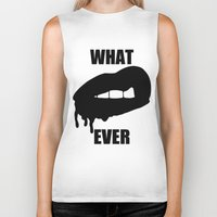 whatever Biker Tanks featuring WHATEVER by Delirium