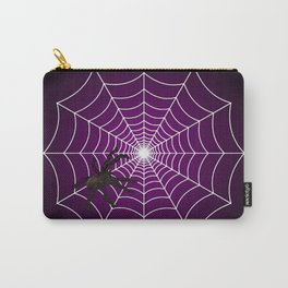 Zombie Purple Spider Web Carry-All Pouch