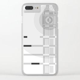 London Big Ben B&W Clear iPhone Case