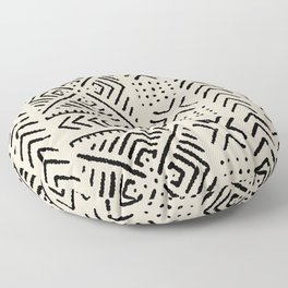 Line Mud Cloth // Bone Floor Pillow