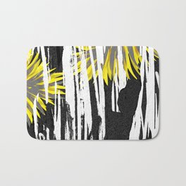 Abstract Palm Tree Leaves Design Bath Mat