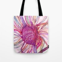 forever young Tote Bags featuring FOREVER YOUNG by flaviasorr