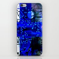 finland iPhone & iPod Skins featuring circuit board Finland by seb mcnulty
