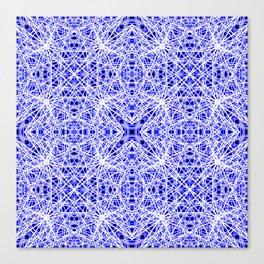 Blue Chaos 10 Canvas Print