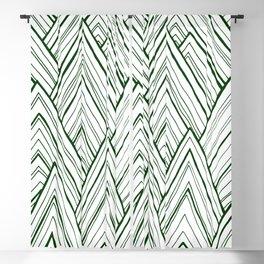 Stripe Mountains - Dark Green Blackout Curtain