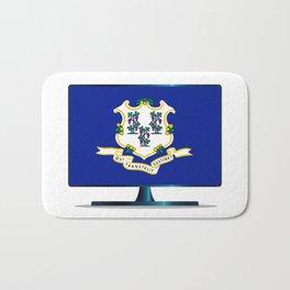 Connecticut Flag TV Bath Mat