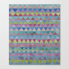 Colored Watercolor Triangles Canvas Print