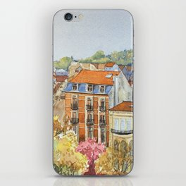 Brussels: neighborhood in Forest area. iPhone Skin